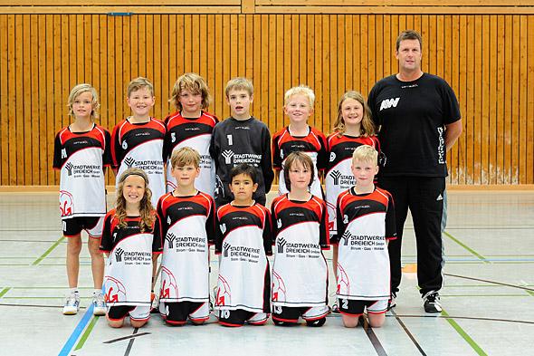HSG Dreieich Mannschaftsfoto männliche E-Jugend 1