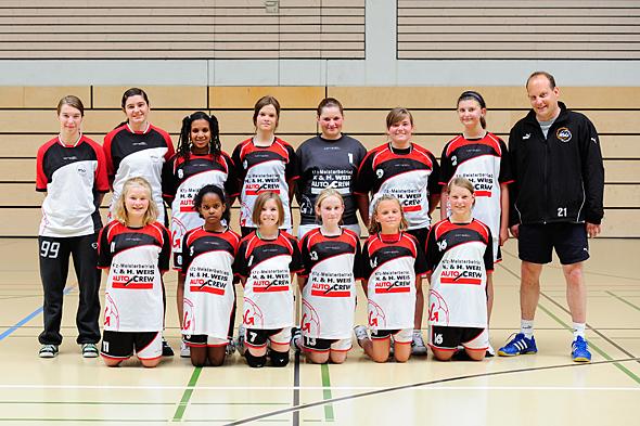 HSG Dreieich Mannschaftsfoto weibliche D-Jugend