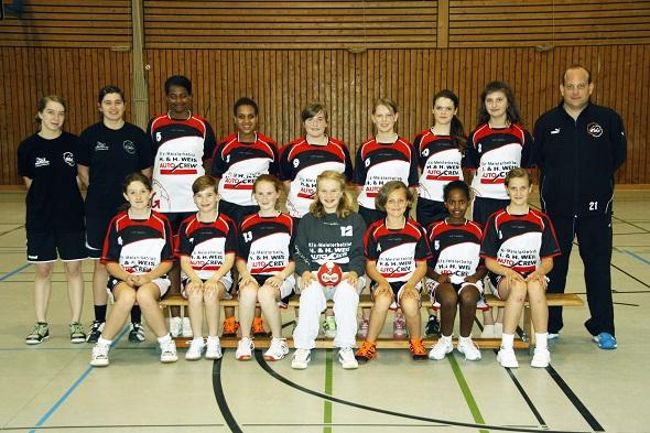 weibliche C-Jugend Mannschaftsbild 2013