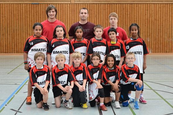 männliche E-Jugend Mannschaftsbild 2013
