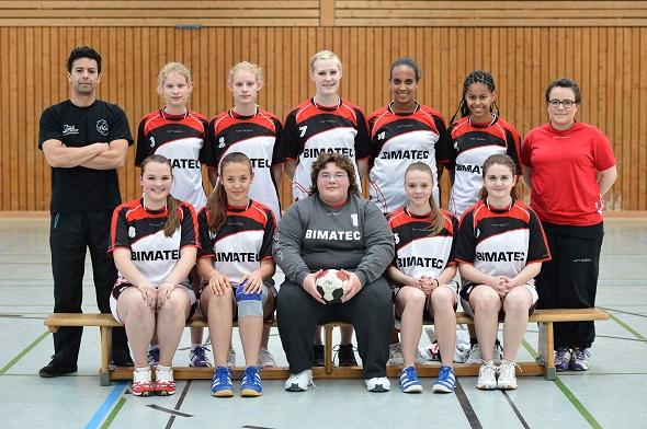 weibliche B-Jugend Mannschaftsbild 2013
