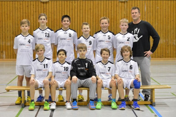 Mannschaftsfoto männliche D-Jugend
