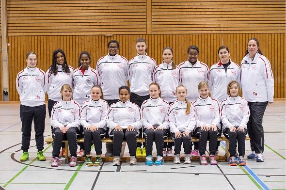 Weibliche C-Jugend Mannschaftsbild 2015