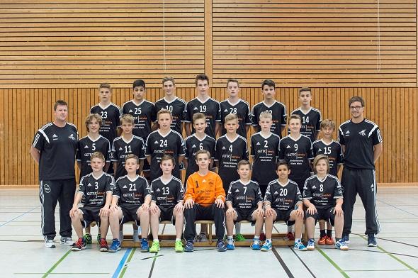 Männliche C-Jugend Mannschaftsbild 2015
