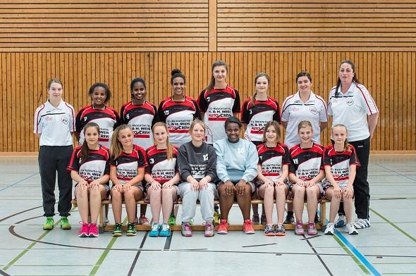 Weibliche B-Jugend Mannschaftsbild 2015