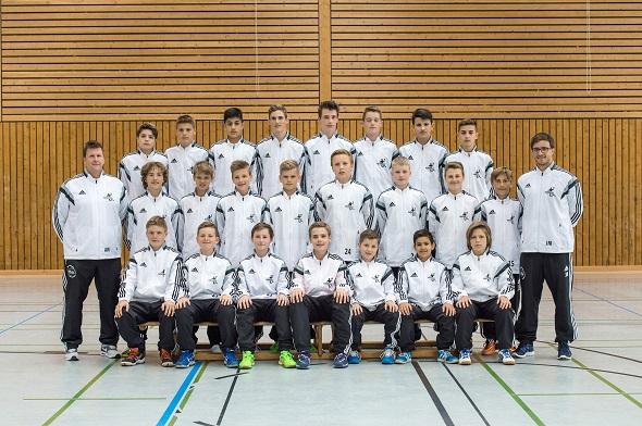 Männliche C-Jugend 2 Mannschaftsbild 2015