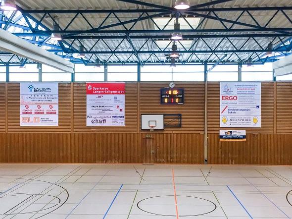 Banner-Rollo Hans-Meudt-Halle